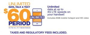 MetroPCS unlimited data plan