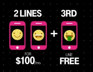 T-Mobile 3rd Line Free