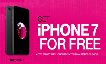 T-Mobile Free iPhone 7 Offers - UnLimited Data Plan